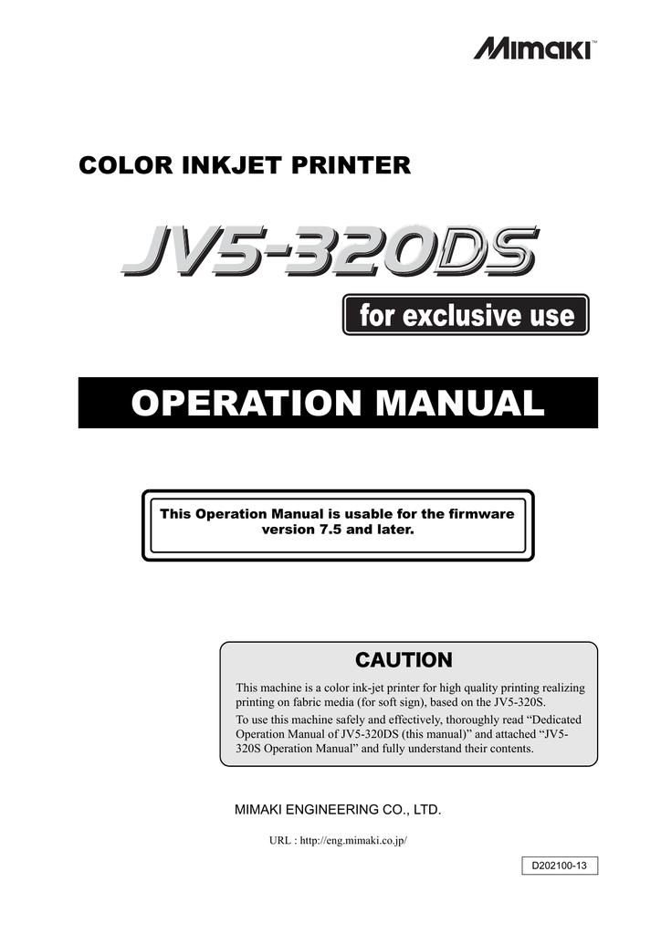 MIMAKI JV5-320S Specifications | manualzz com