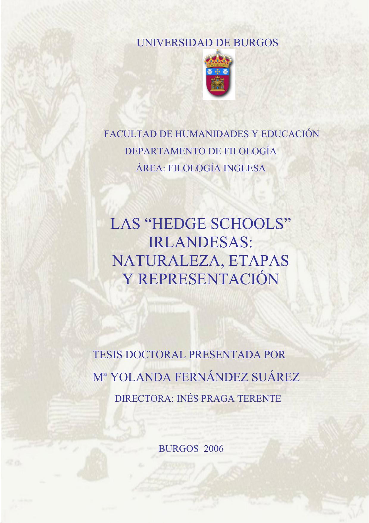 """las """"hedge schools"""" irlandesas: naturaleza, etapas y representación ..."""