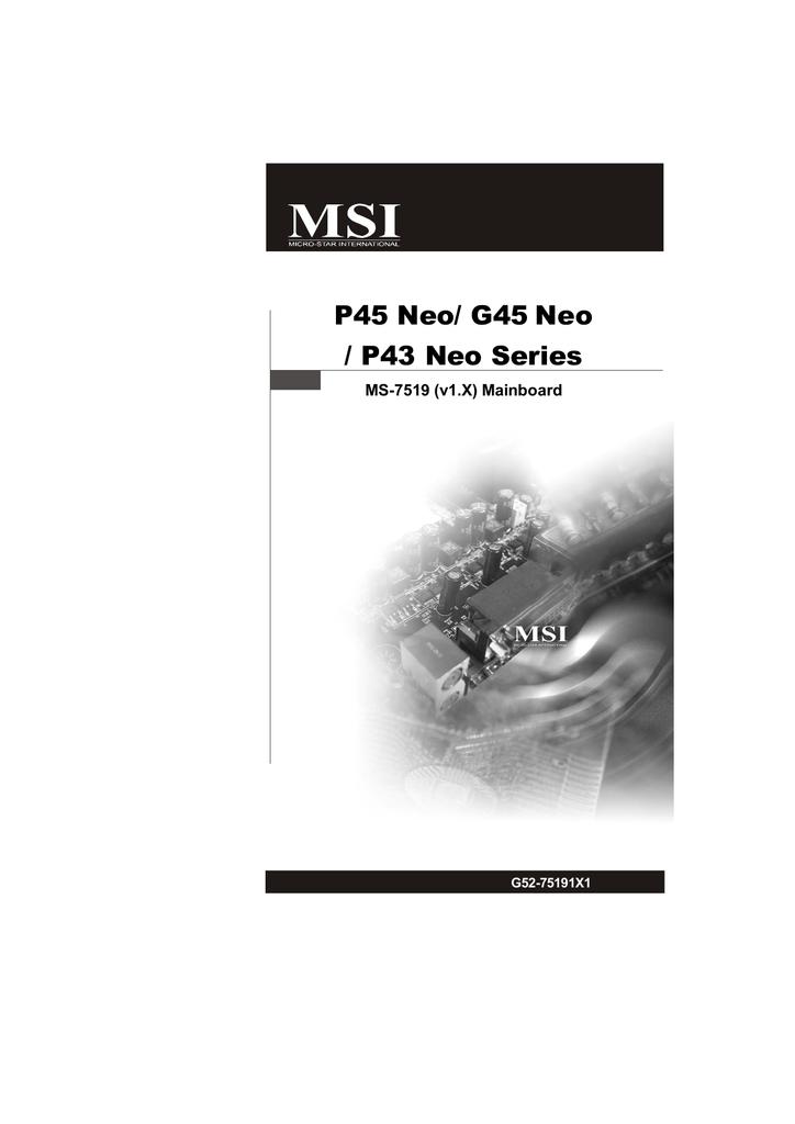 MSI P43 NEO REALTEK PCI-E ETHERNET TREIBER HERUNTERLADEN