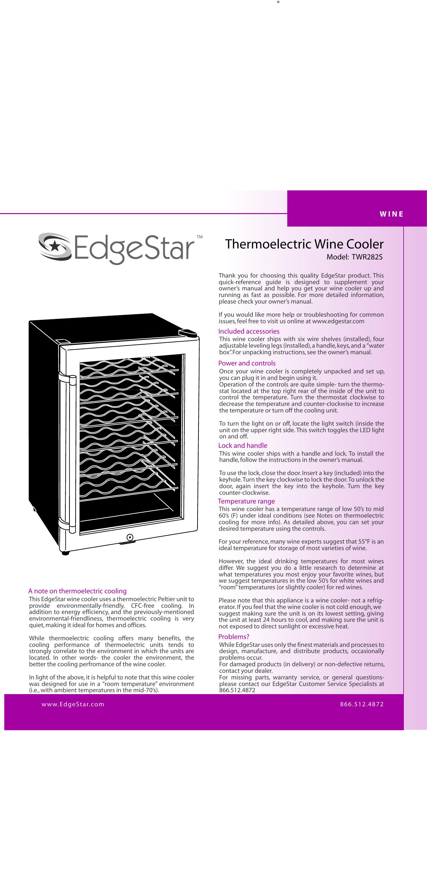 Thermoelectric Wine Cooler | manualzz com