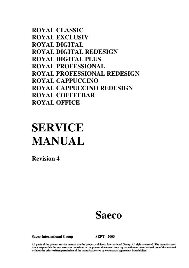 saeco digital service manual manualzz com rh manualzz com Maintenance Man Maintenance Man