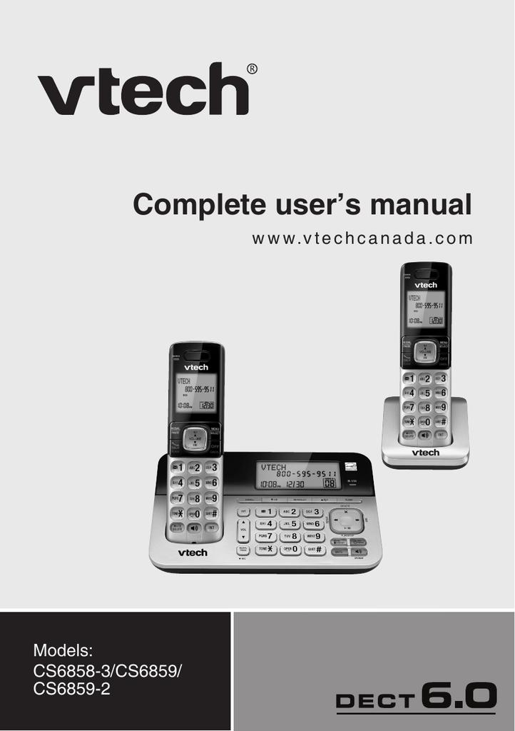 vtech cs6858 3 user s manual manualzz com rh manualzz com CS6229-3 VTech Phones VTech Phones with Answering Machine