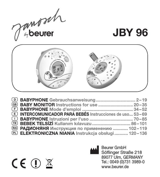 Beurer Jby 101 Technical Data Manualzz Com