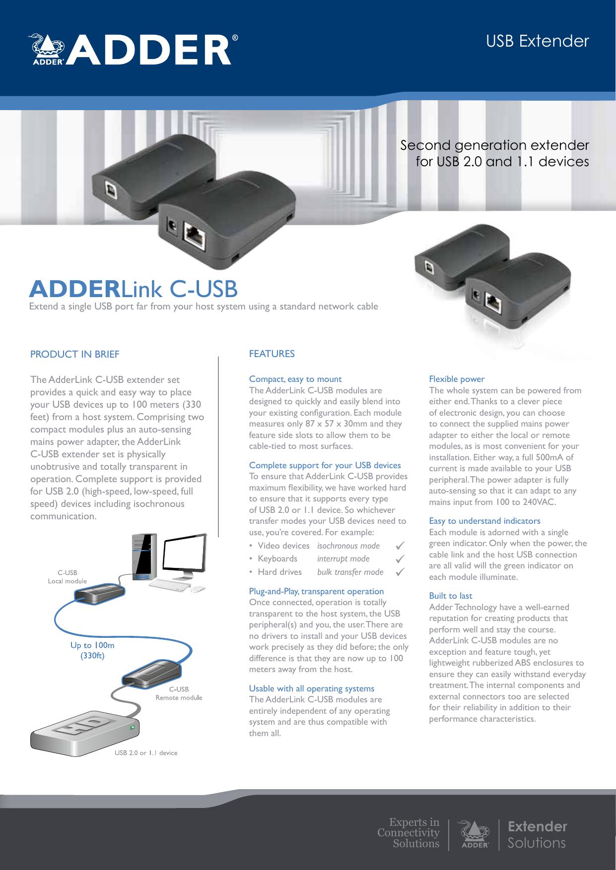 ADDERLink C-USB - procom | manualzz com