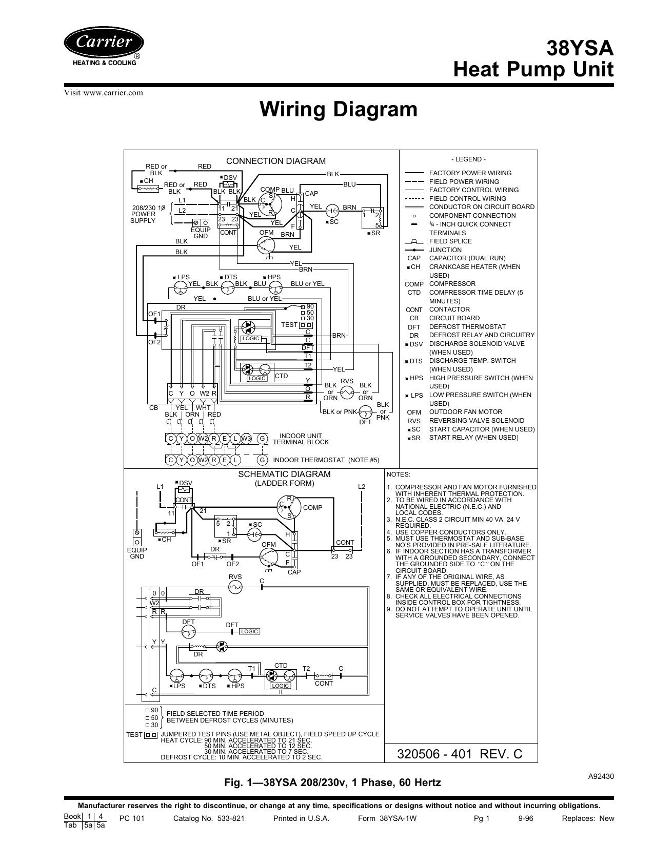 38ysa Heat Pump Unit Wiring Diagram