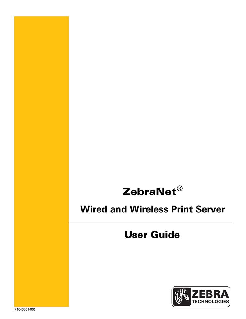 Zebra Wireless Print Server User guide | manualzz com