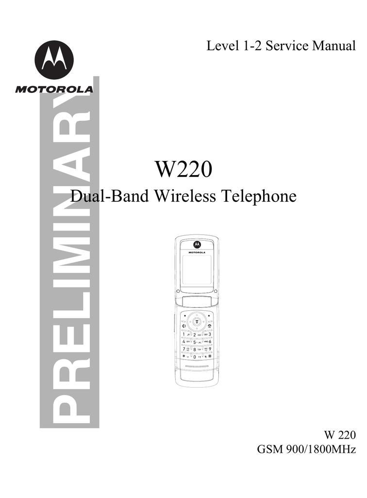 Motorola W220 - Cell Phone - GSM Service manual | manualzz com