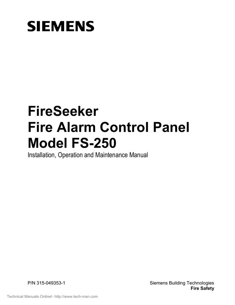 Siemens Fs 250 Specifications Pad 3 Wiring Diagram
