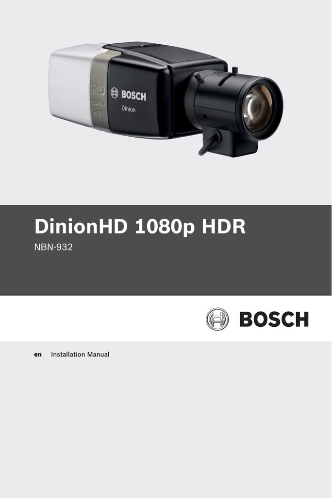 Bosch NBN-932 Installation manual   manualzz com