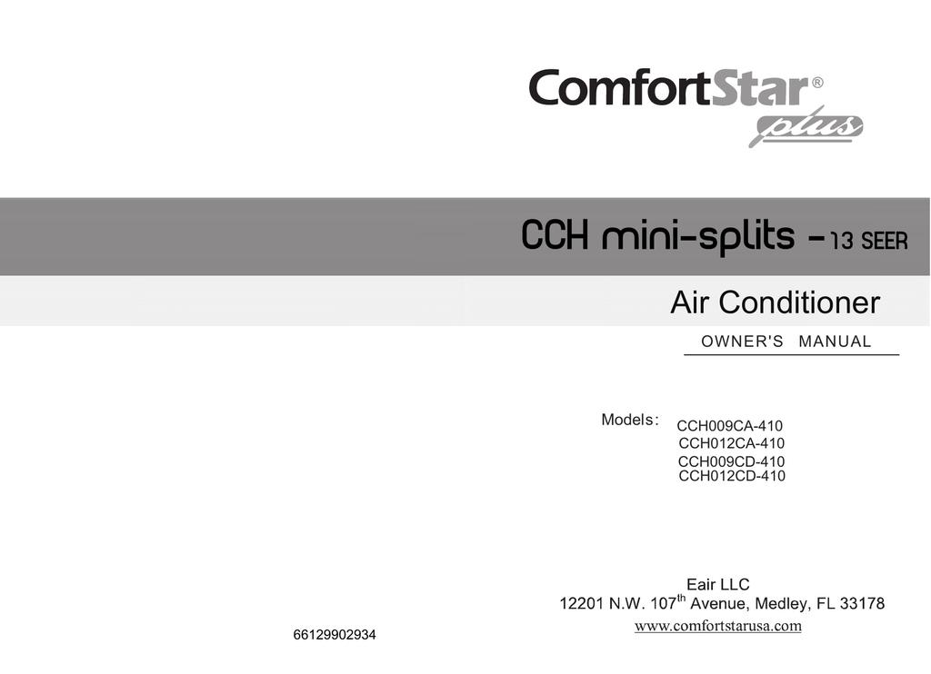 ComfortStar CCH009CA-410 Owner`s manual   manualzz com