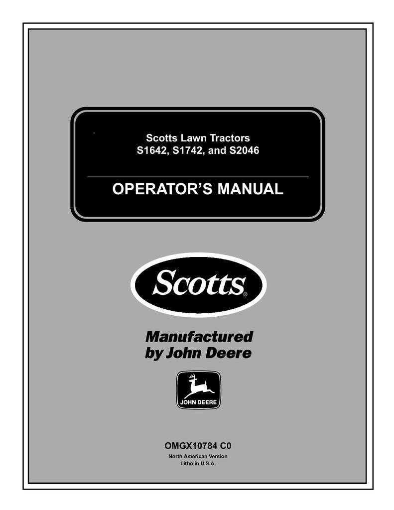 [FPWZ_2684]  Scotts S1742 Operator`s manual | Manualzz | Scotts S1742 Wiring Diagram |  | manualzz