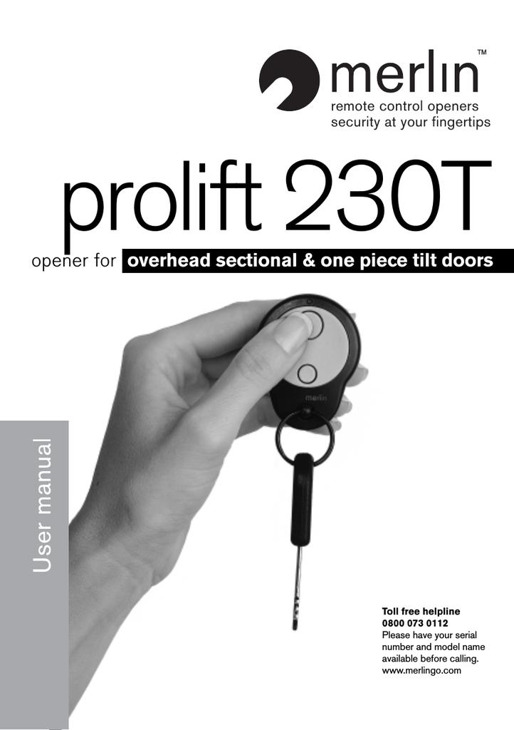 Merlin prolift 230T Specifications | manualzz com