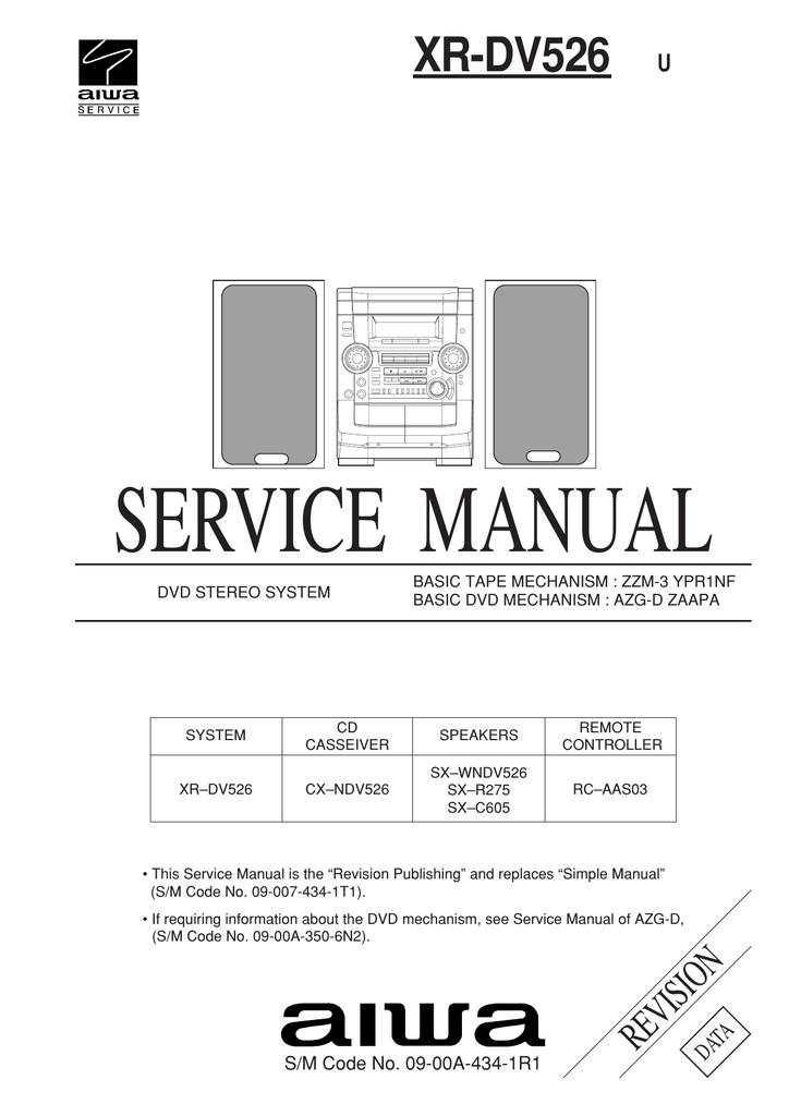 Aiwa XR-DV526 Service manual   manualzz.com on