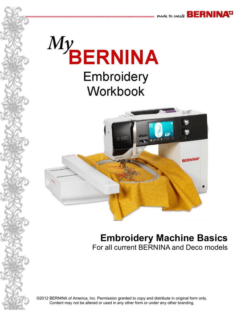 My BERNINA Embroidery - Sew Happins Creative Studio