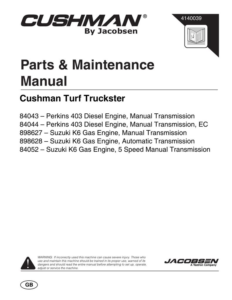 Cushman 898628 Specifications | manualzz.com on
