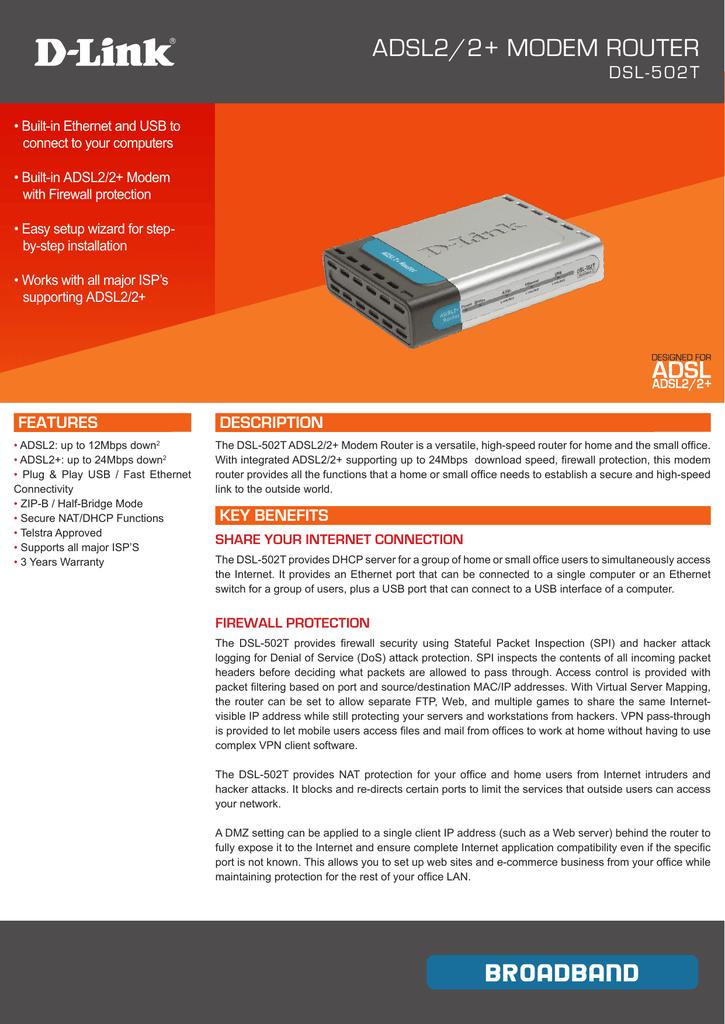 ADSL2/2+ MODEM ROUTER | manualzz com