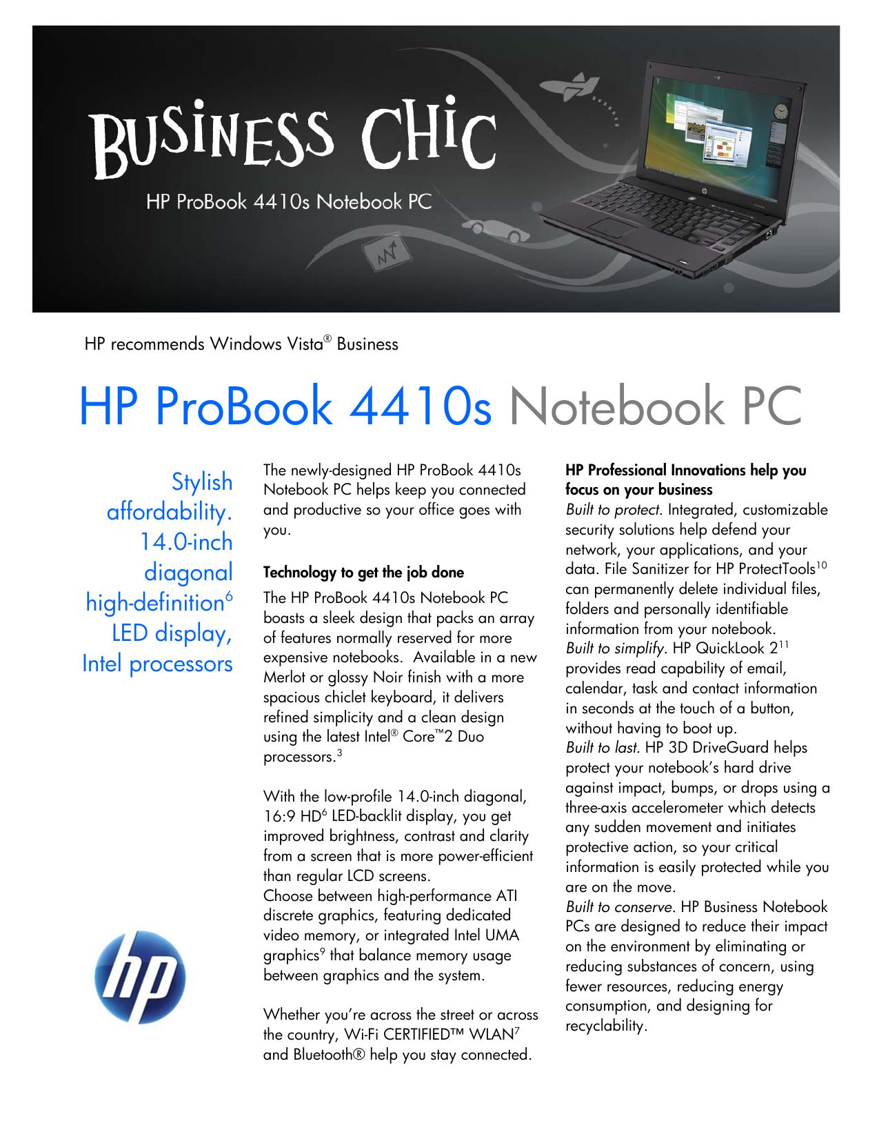 HP ProBook 4410s Notebook PC | manualzz com