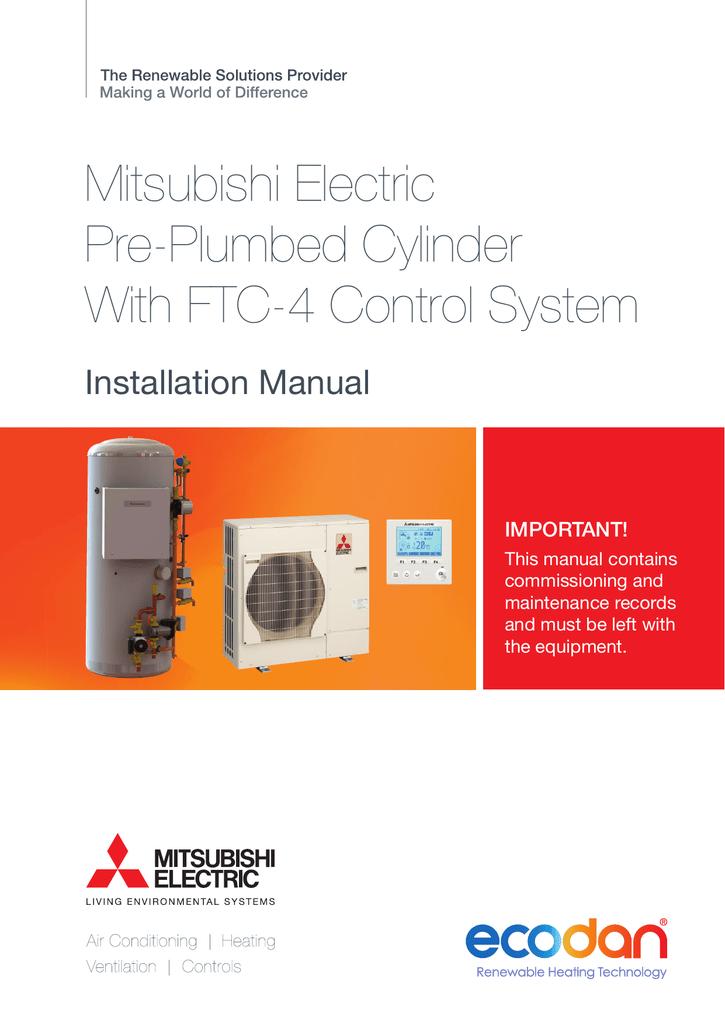 mitsubishi electric puhz-hw140yha-bs installation manual