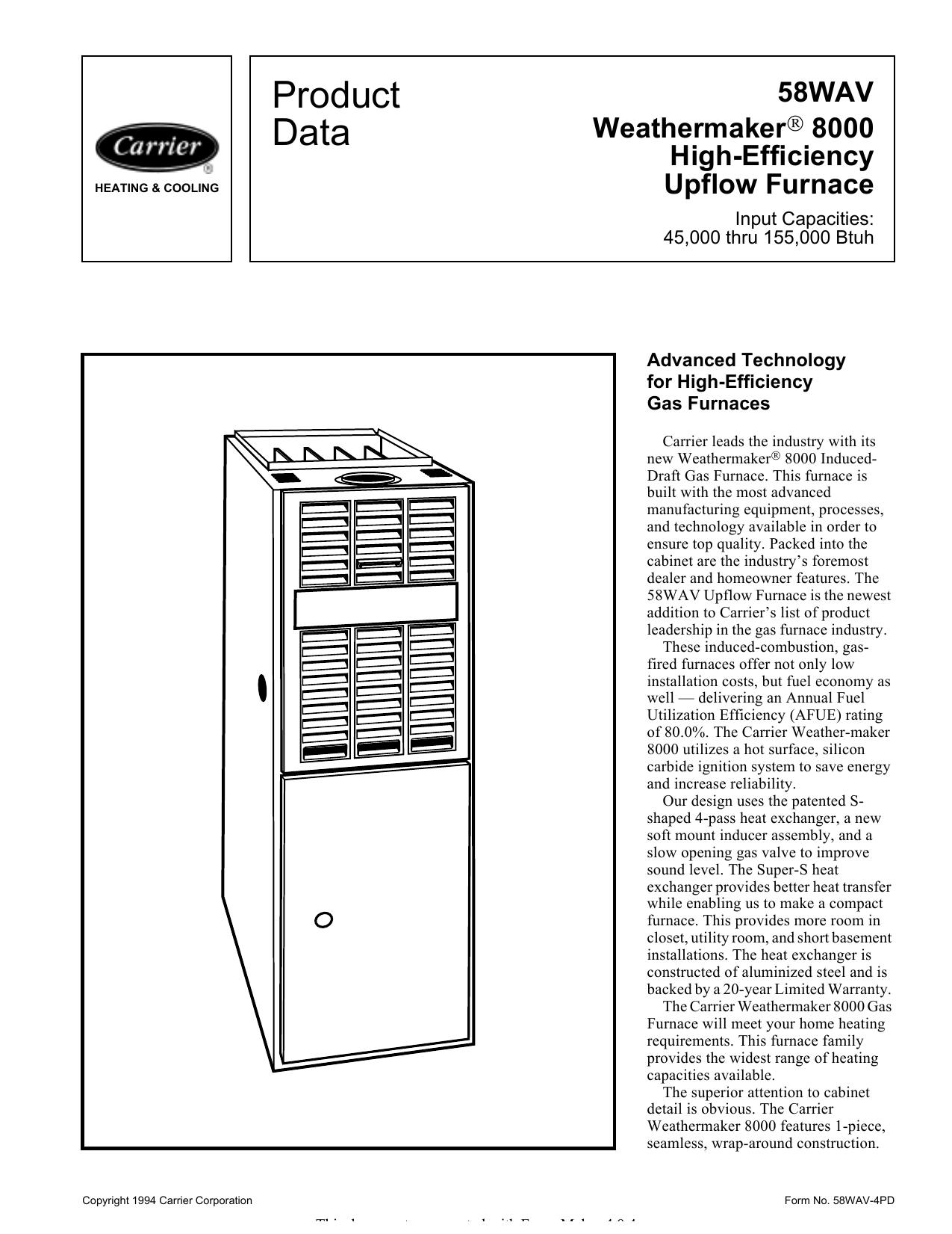 Product Data - HVACpartners | manualzz com