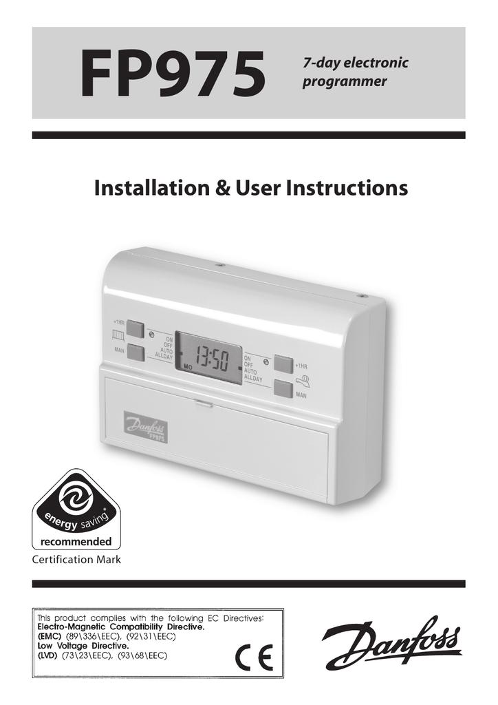 User instructions danfoss randall.