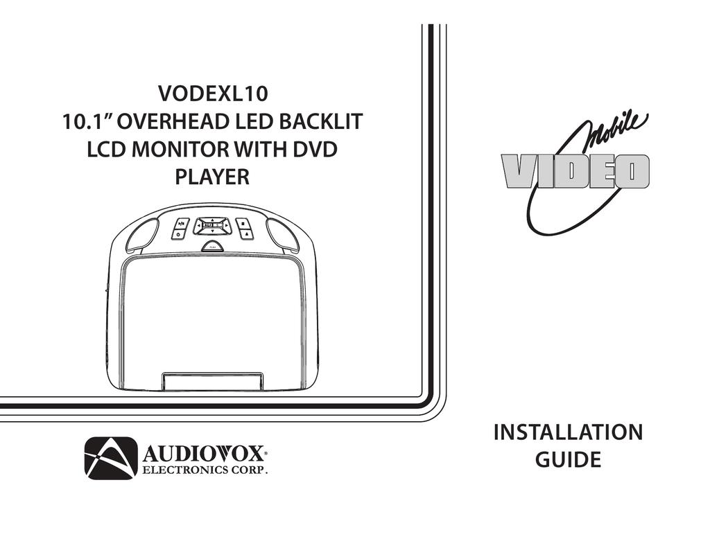 overhead dvd player wiring diagram audiovox voddlx10 installation guide manualzz  audiovox voddlx10 installation guide