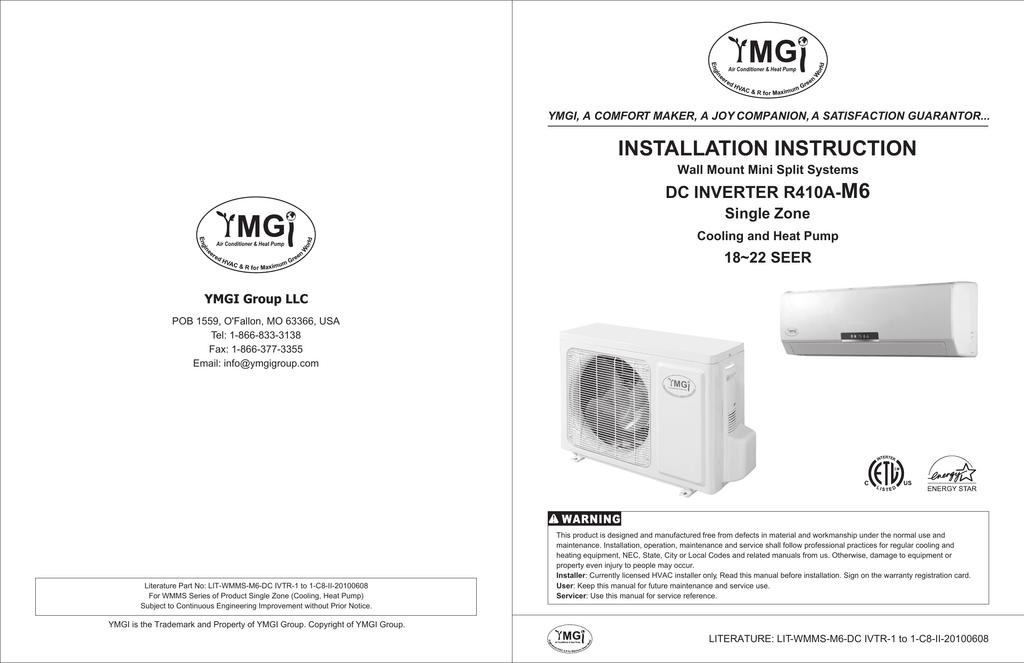 ymgi r410a series m6 unit installation manualzz com rh manualzz com Simple Wiring Diagrams HVAC Wiring Diagrams