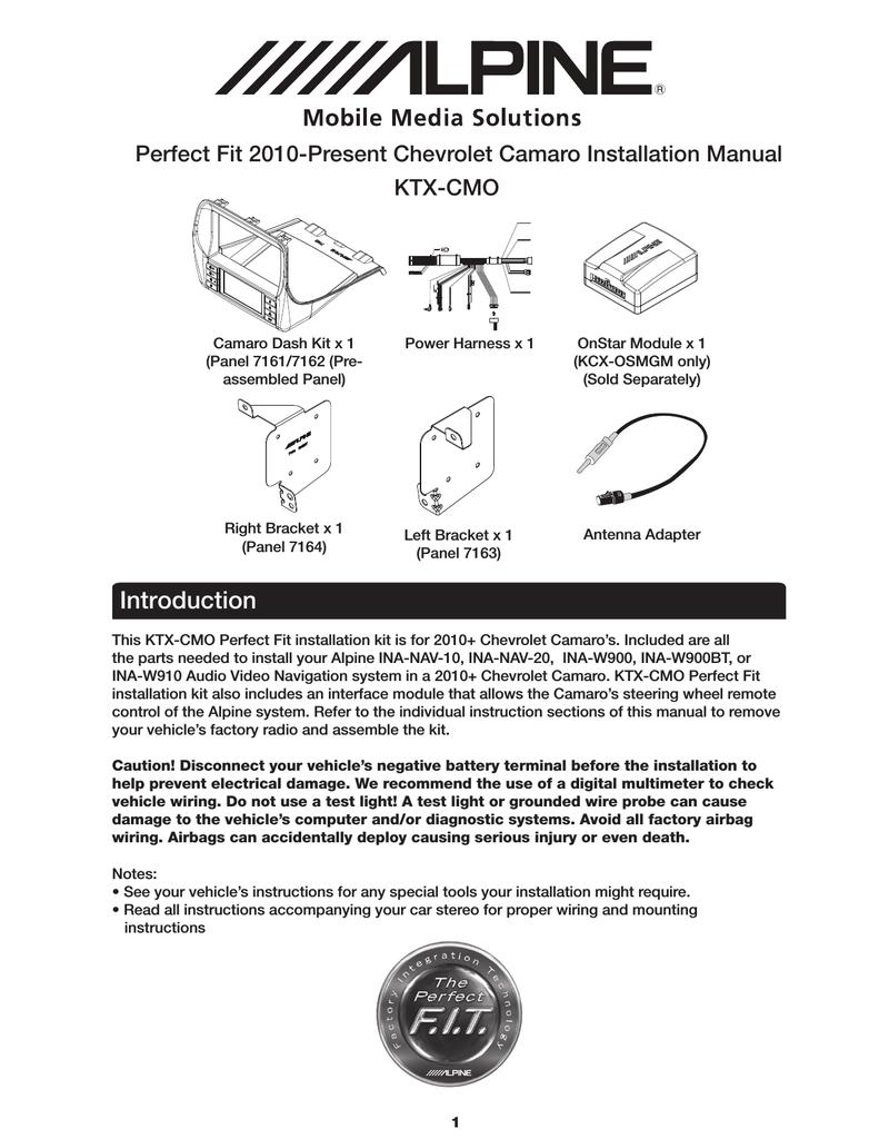 Alpine Ina W900bt Installation Manual Onstar Module Wiring