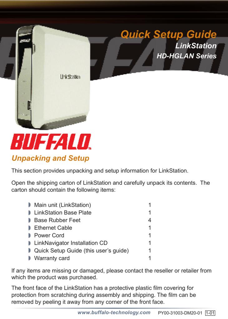 Buffalo HD-HGLAN Series Setup guide | manualzz com