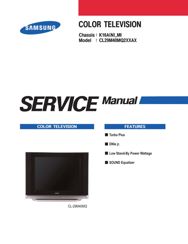 Samsung CL-29M21FQ Service manual | manualzz com