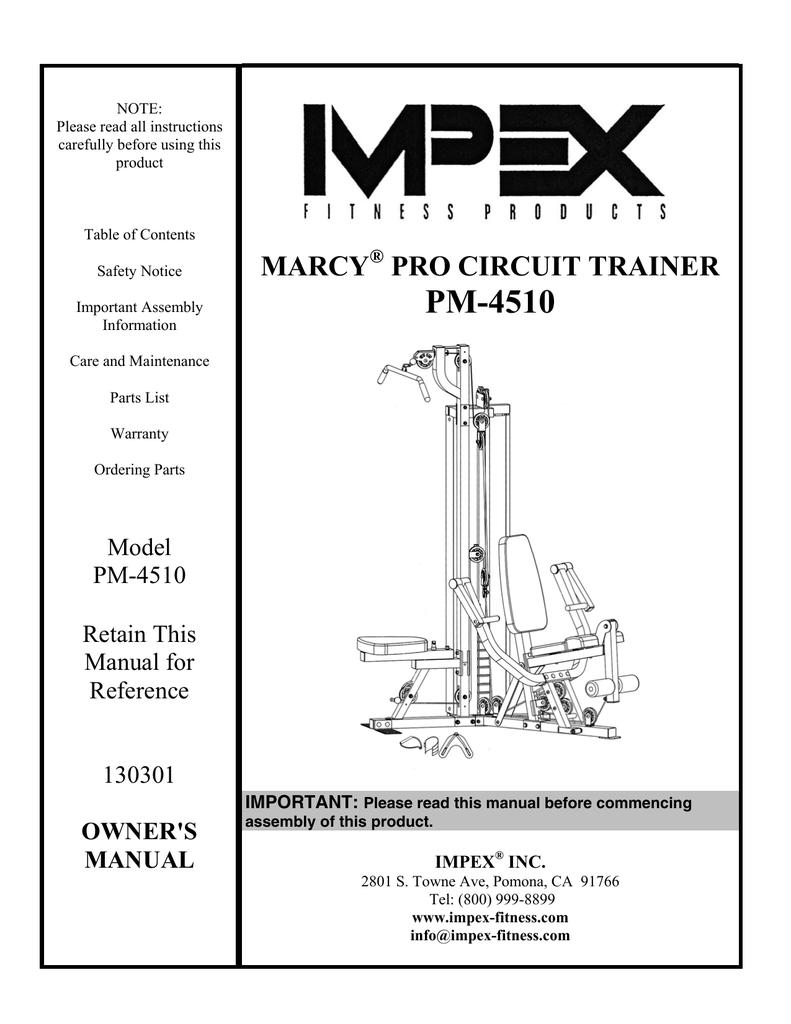 mpex pm 4510 owner s manual manualzz com rh manualzz com Marcy Home Gym Attachments Marcy Home Gym Pro Em 1