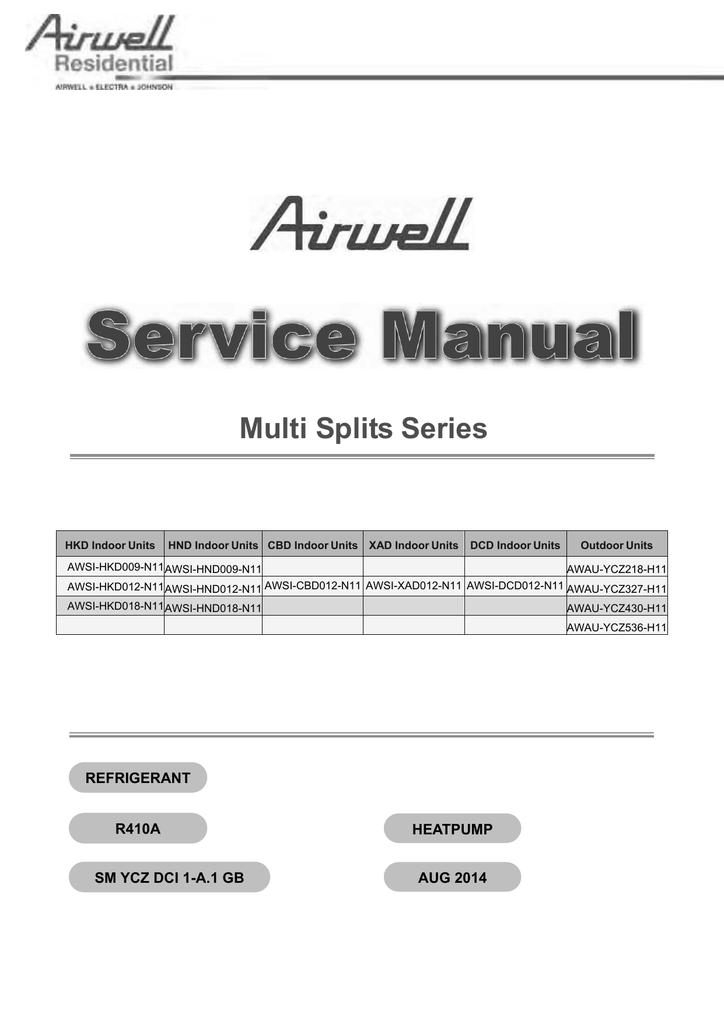 Airwell AWSI-HKD009-N11 Specifications | manualzz.com on