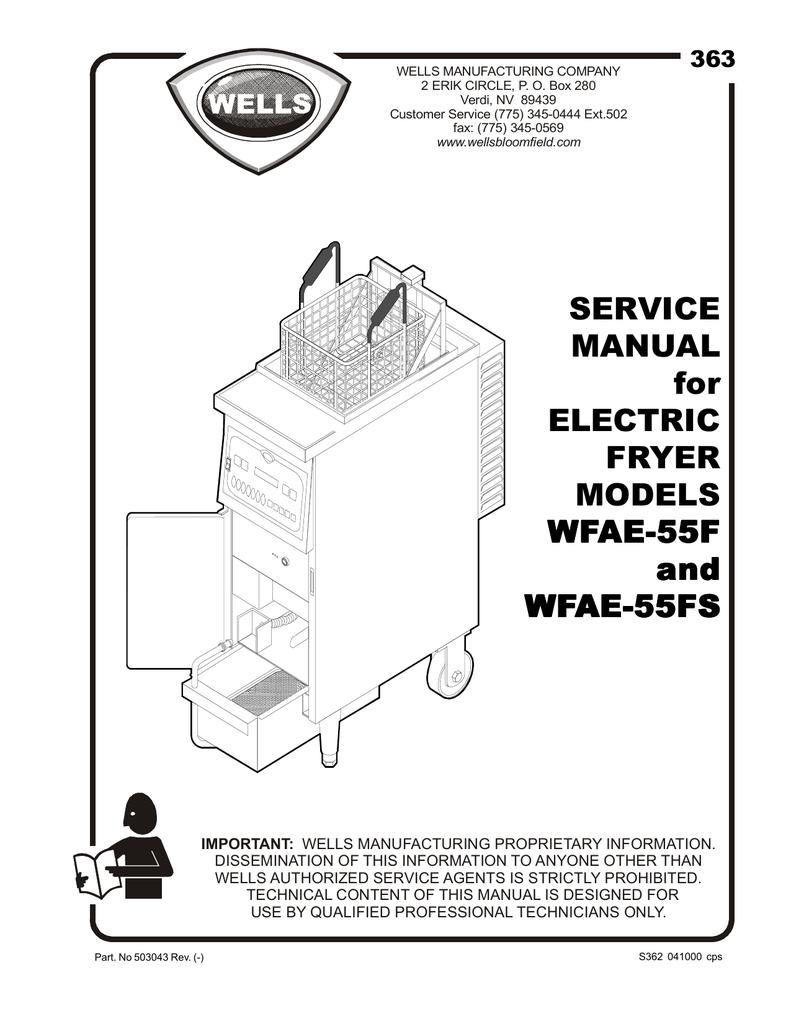 Wells WVAE-55FS Service manual | manualzz.com on
