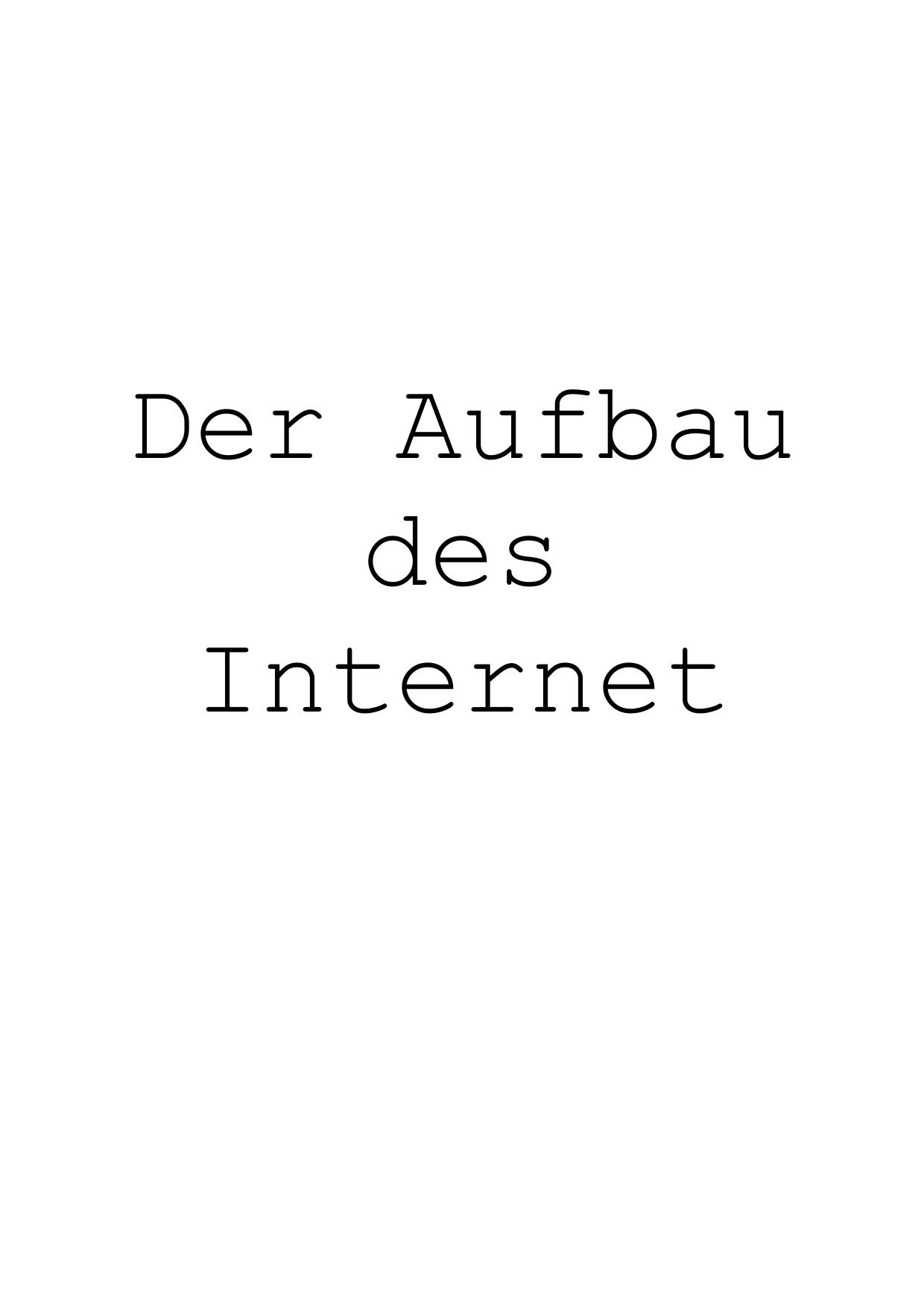 Der Aufbau des Internet | manualzz.com