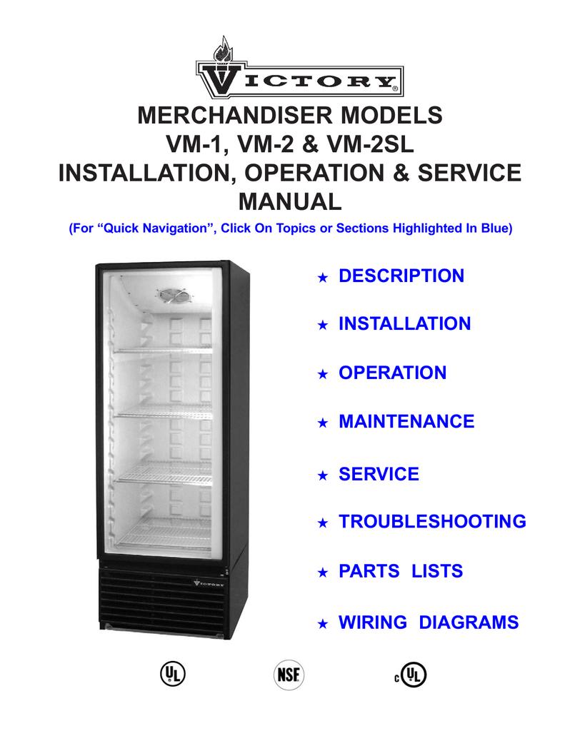 Victory Refrigeration Wiring Diagram