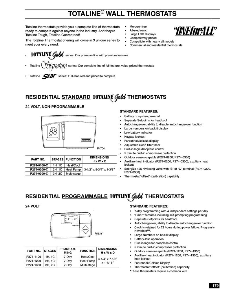Totaline Wall Thermostats Tstatccprh01 B Wiring Diagram