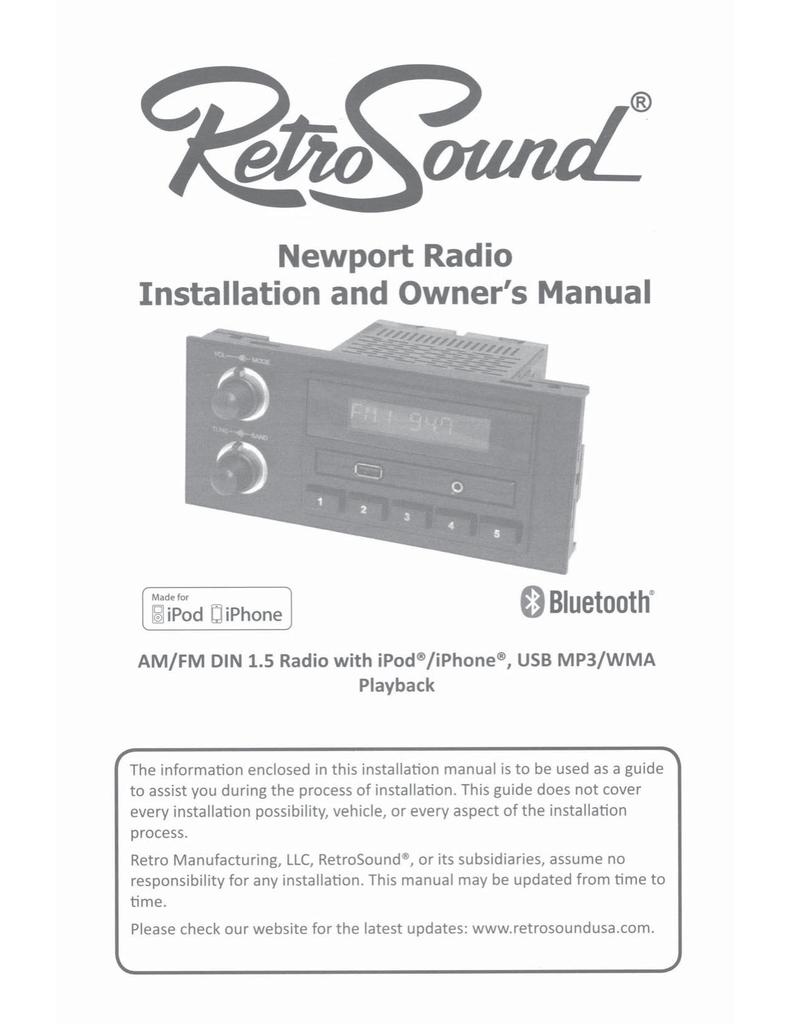 RetroSound Newport Radio Owner`s manual   manualzz com