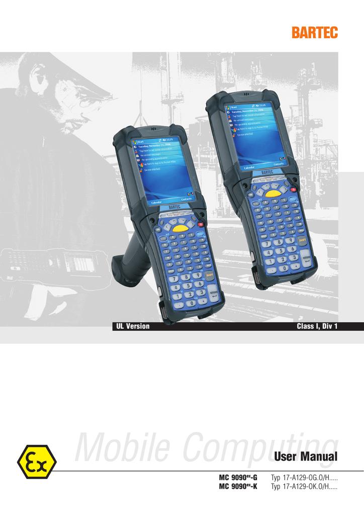Bartec MC 9090ex-G User manual | manualzz com