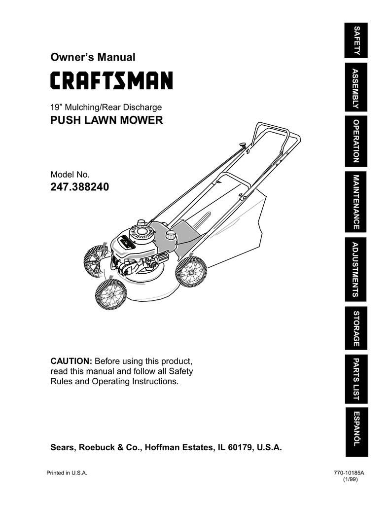 Carburetor Diagram And Parts List For Craftsman Walkbehindlawnmower
