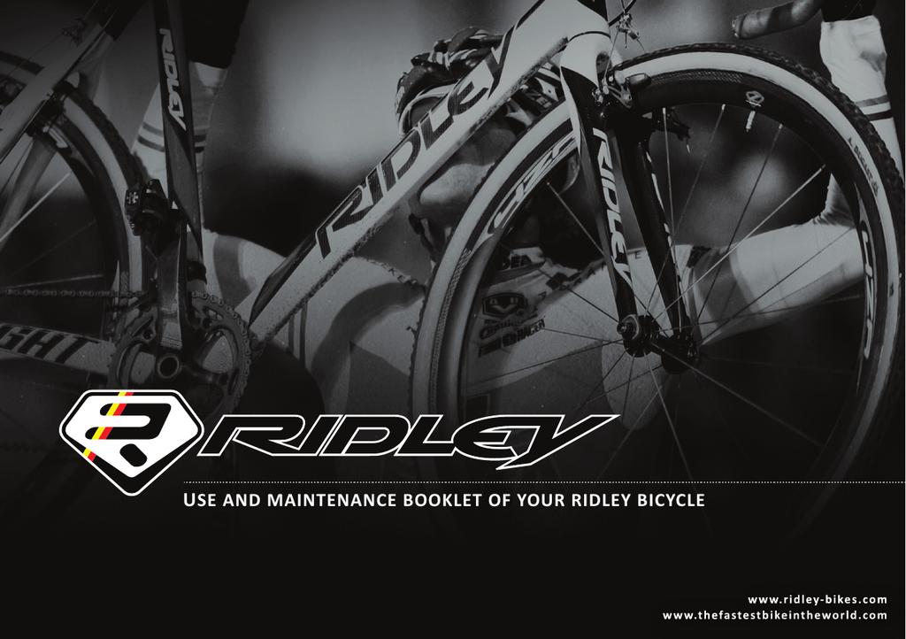 2 x Large Ridley Bike Frame Decals