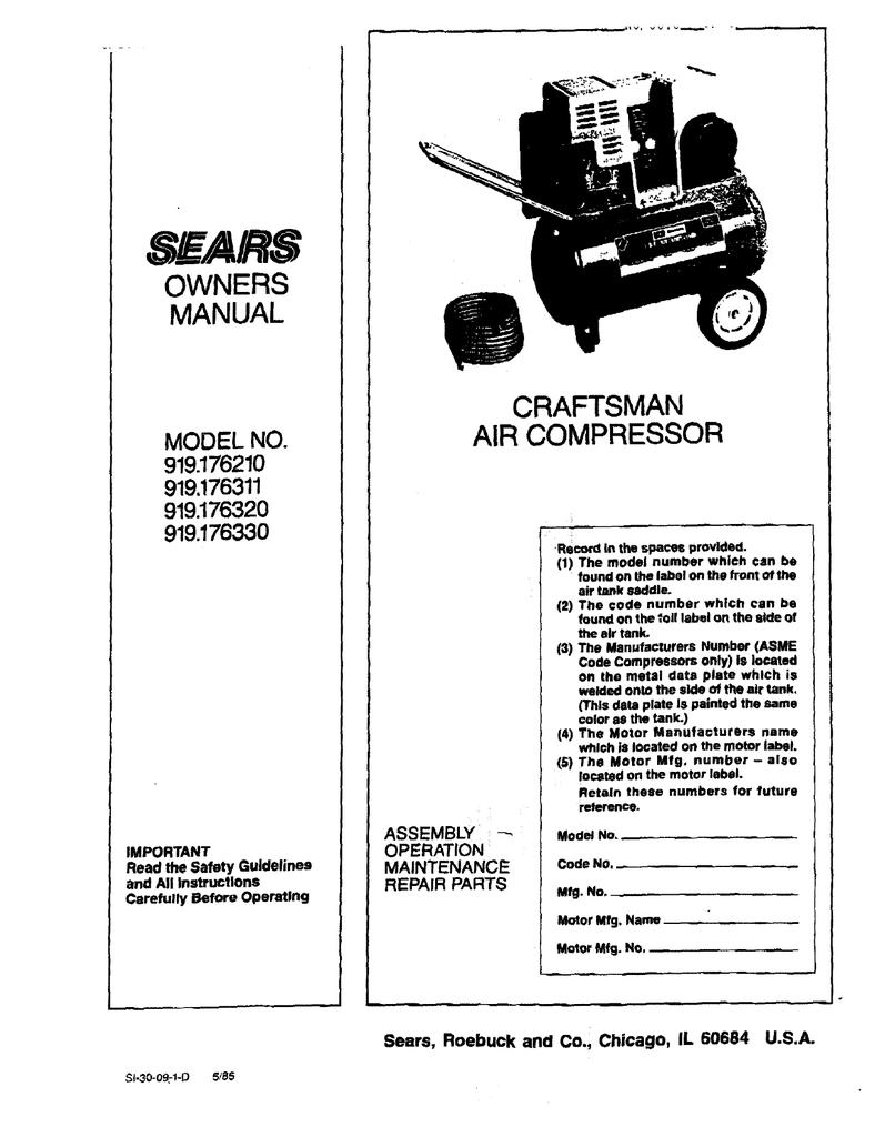 Craftsman 919 Troubleshooting Guide Manualzz
