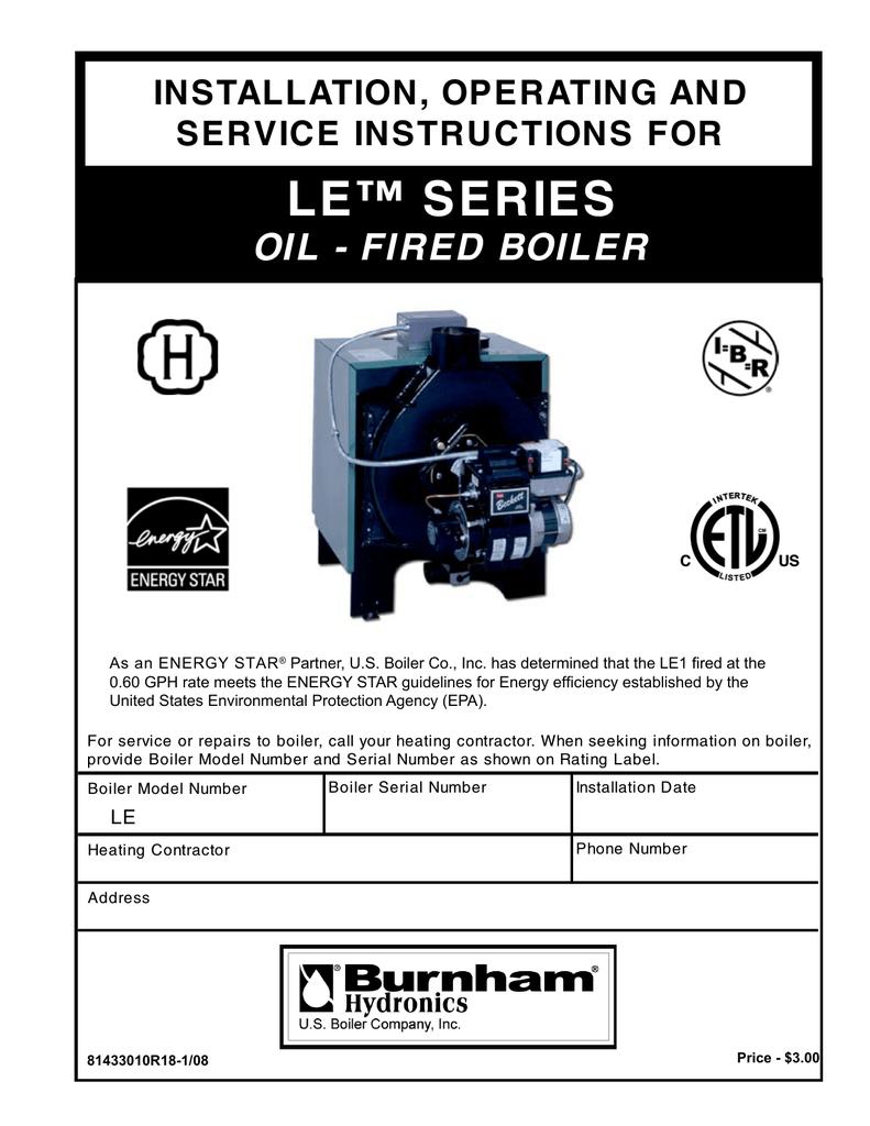 Burnham LE L40 Specifications   Manualzz