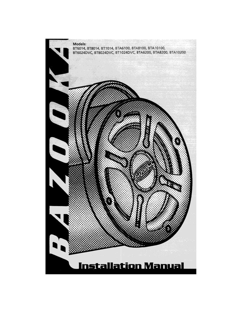 Bazooka BT1014 Specifications | Manualzz | Bazooka Bt1014 Wire Harness |  | manualzz
