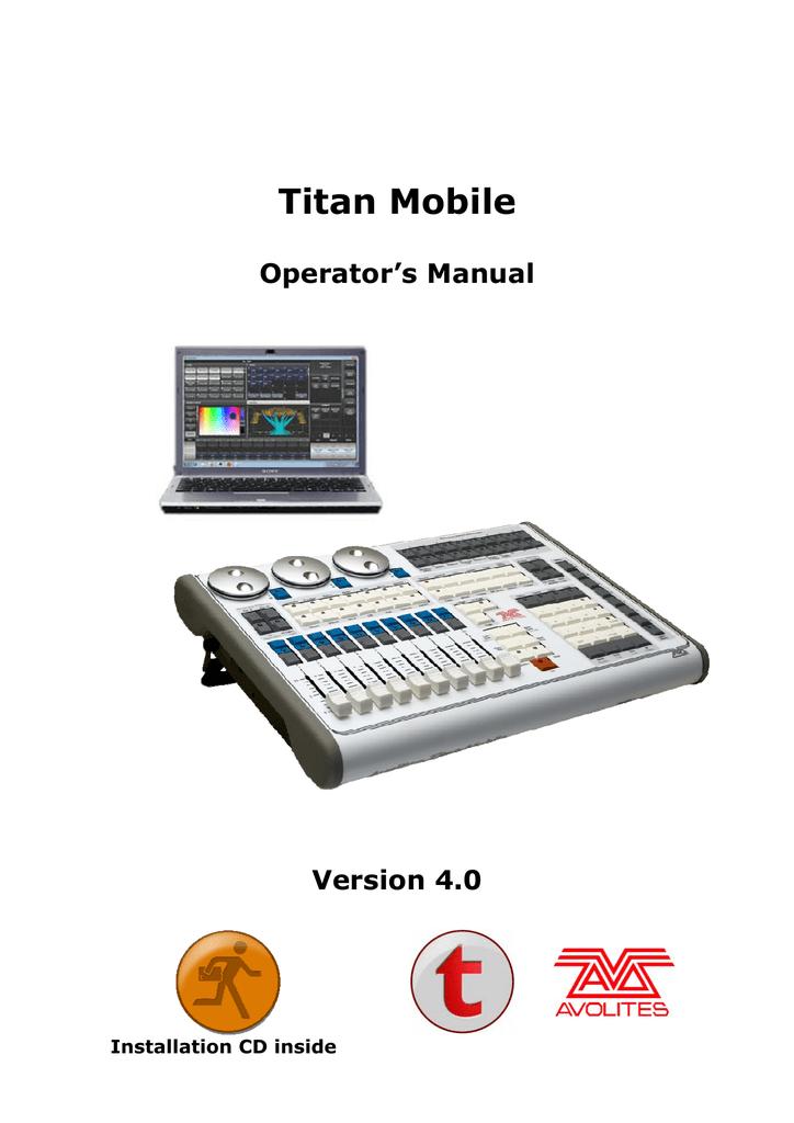 Avolites Titan One Operator`s manual | manualzz com