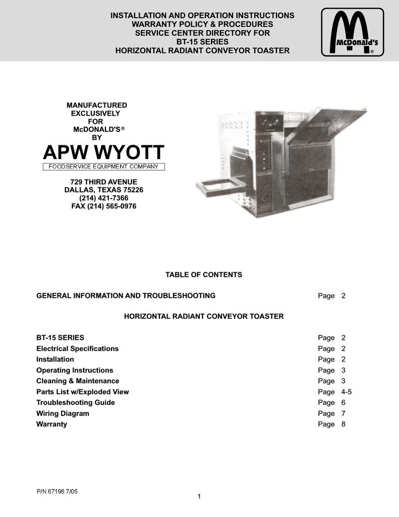 apw wyott wiring diagrams manual e books APW Wyott HRS-31S apw wyott wiring  diagrams