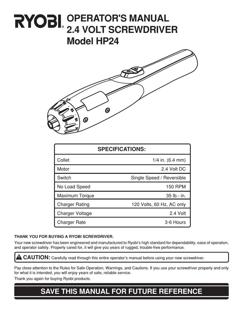 ryobi hp24 operator s manual manualzz com rh manualzz com Ryobi P2102 Manuals Ryobi Blower Parts