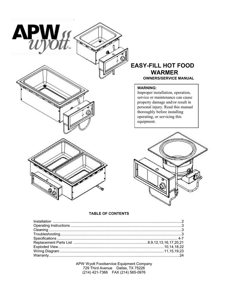 Apw Wyott Wiring Diagrams | Wiring Liry on