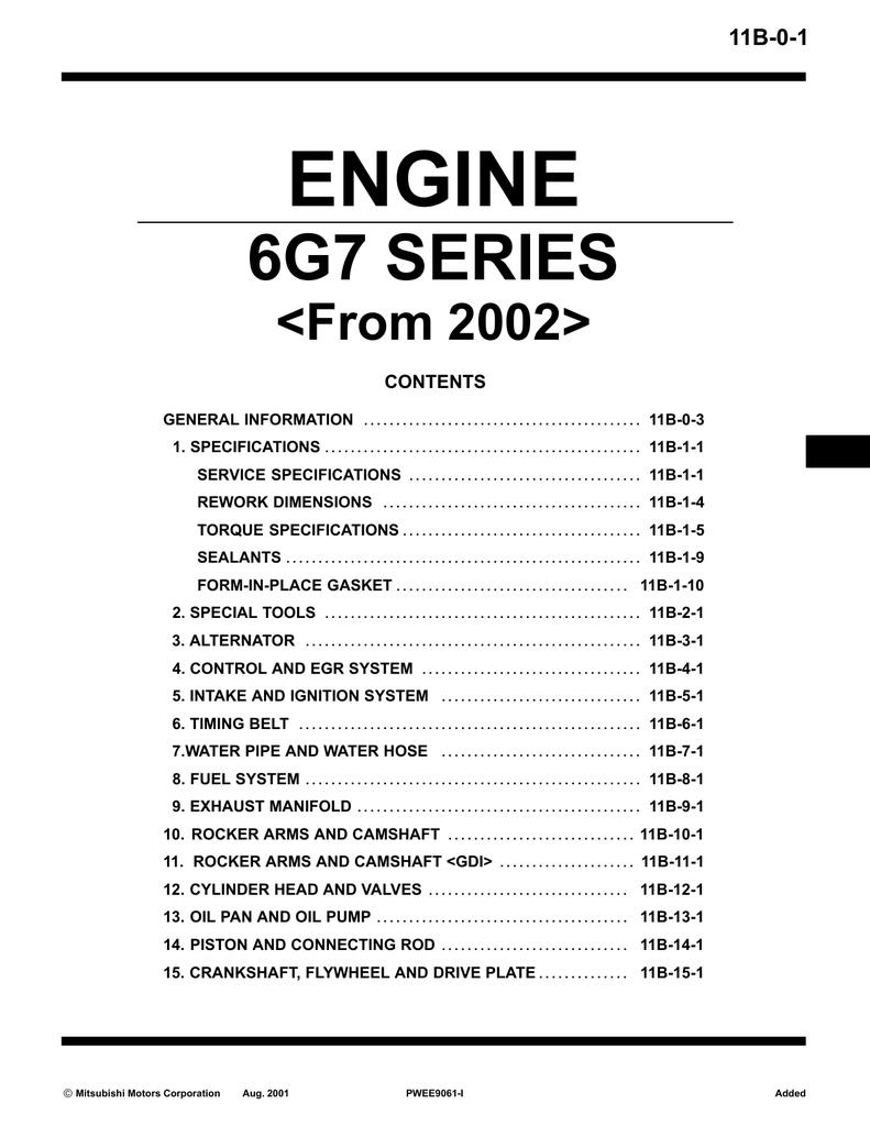 mitsubishi 6g7 specifications manualzz com rh manualzz com 6G74 Turbo Kit 6g74 dohc workshop manual