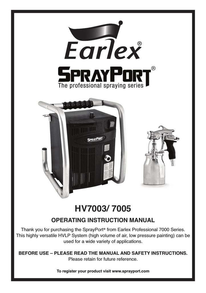 Earlex HV7000 Instruction manual | manualzz com