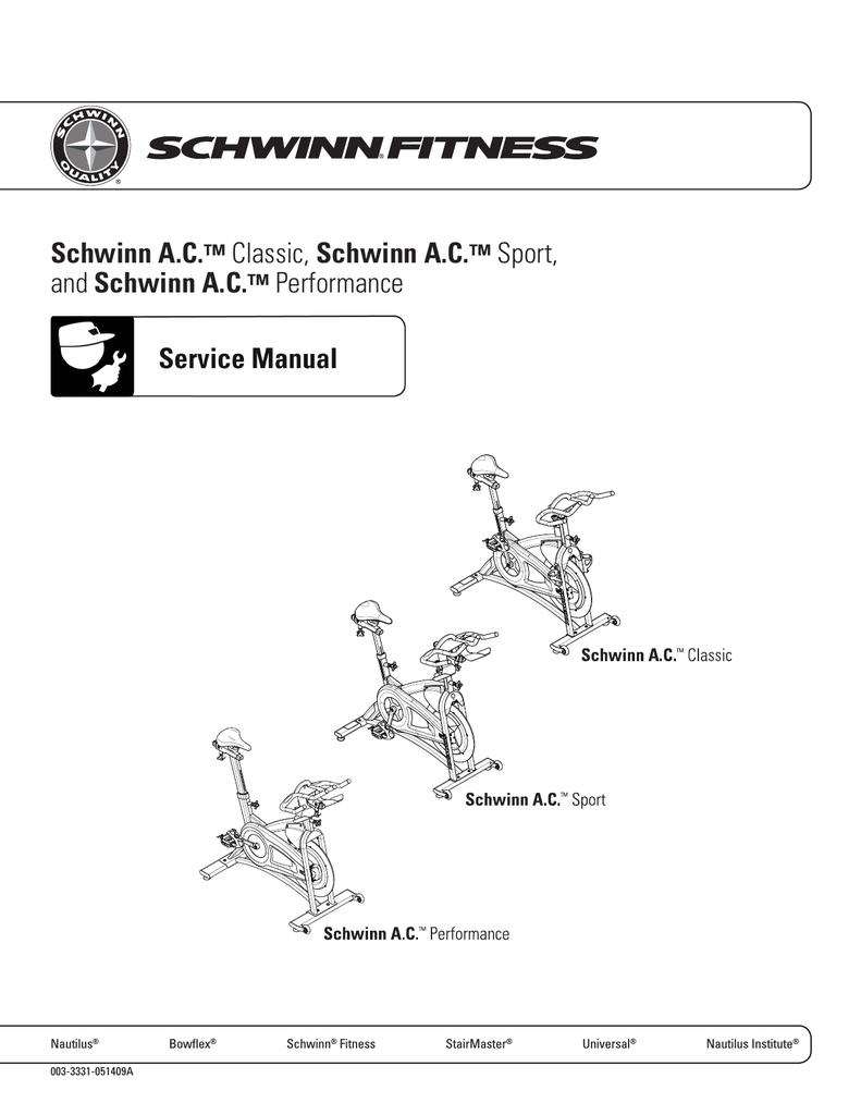 Schwinn Active series 20 series Service manual | manualzz com
