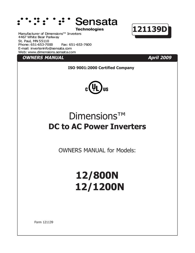 dimensions 12 800n 12 1200n manualzz com rh manualzz com Instruction Manual Book Owner's Manual